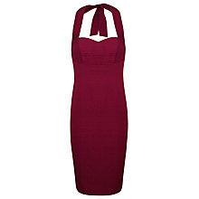 Buy Alexon Silk Mix Halter Dress, Red Online at johnlewis.com