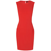 Buy Jaeger Dropped Waist Crepe Dress, Red Online at johnlewis.com