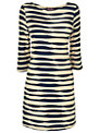 Phase Eight Striped Tunic Dress, Navy/Stone