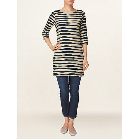 Buy Phase Eight Striped Tunic Dress, Navy/Stone Online at johnlewis.com