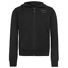 Buy Hackett London Aston Martin Racing Zip-up Jersey Hoodie, Black Online at johnlewis.com