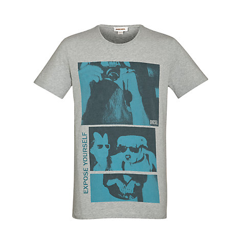 Buy Diesel T-Photoanimal Graphic Print T-Shirt Online at johnlewis.com