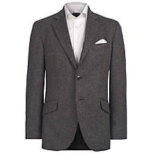 Buy Hackett London Wool Cashmere Blend Donegal Blazer, Charcoal Online at johnlewis.com