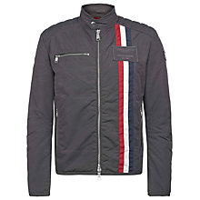 Buy Hackett London Aston Martin Racing Salvodori Moto Jacket, Grey Online at johnlewis.com
