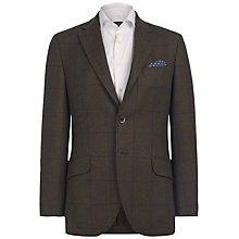 Buy Hackett London Windowpane Blazer, Olive Online at johnlewis.com