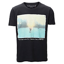 Buy Selected Homme Ollie T-Shirt, Black Online at johnlewis.com