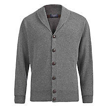 Buy Hackett London Shawl Collar Cashmere Wool Cardigan, Grey Online at johnlewis.com