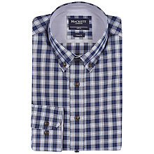 Buy Hackett London Plaid Shirt, Blue Online at johnlewis.com