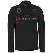 Buy Hackett London Aston Martin Racing Long Sleeve Polo Shirt Online at johnlewis.com