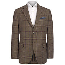 Buy Hackett London Country Check Blazer, Brown Online at johnlewis.com