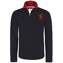 Buy Hackett London Tailored Rugby Polo Shirt, Navy Online at johnlewis.com