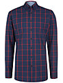 Hackett London Windowpane Check Shirt, Blue/Red