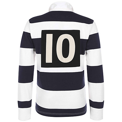 Buy Hackett London HRFC Striped Rubgy Shirt, Navy/White Online at johnlewis.com