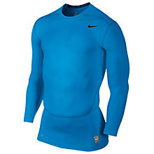 Buy Nike Core Compression Long Sleeve Top 2.0, Blue Online at johnlewis.com