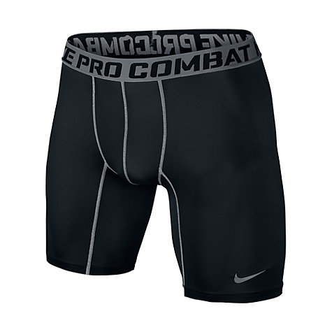 "Buy Nike Pro Combat Core Compression 6"" Shorts, Black Online at johnlewis.com"
