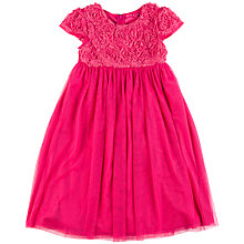 Buy Dehry Kids Aureline Dress, Fuchsia Online at johnlewis.com