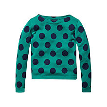 Buy Tommy Hilfiger Girls' Dot Jumper, Shady Glade Online at johnlewis.com