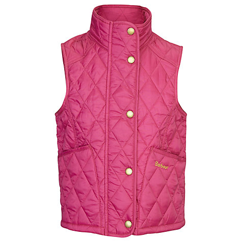 Buy Barbour Girls' Printed Summer Liddesdale Gilet Online at johnlewis.com