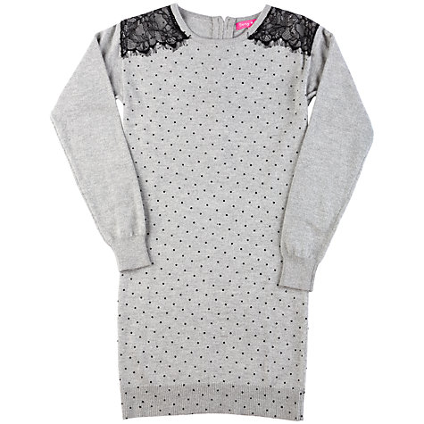 Buy Derhy Kids Adelaide Knitted Dress, Grey Online at johnlewis.com