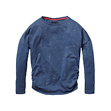Buy Tommy Hilfiger Studded Long-Sleeved Top, Ensign Blue Online at johnlewis.com