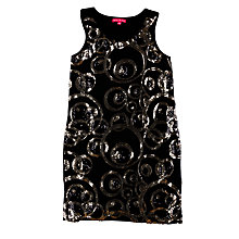 Buy Derhy Kids Ashley Dress, Black/Gold Online at johnlewis.com