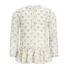 Buy Somerset by Alice Temperley Girls' Georgette Bird Print Blouse, Oyster Online at johnlewis.com