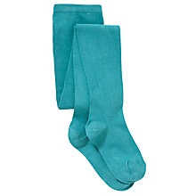 Buy John Lewis Girl Tights, Turquoise Online at johnlewis.com