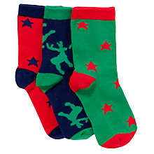 Buy John Lewis Boy Boxed Animal Christmas Socks, Pack of 3, Multi Online at johnlewis.com
