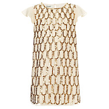Buy Somerset by Alice Temperley Girls' All Over Sequin Dress, Gold Online at johnlewis.com
