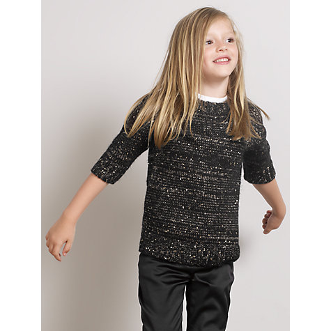 Buy Somerset by Alice Temperley Girls' Sparkle Knit Tunic, Black Online at johnlewis.com