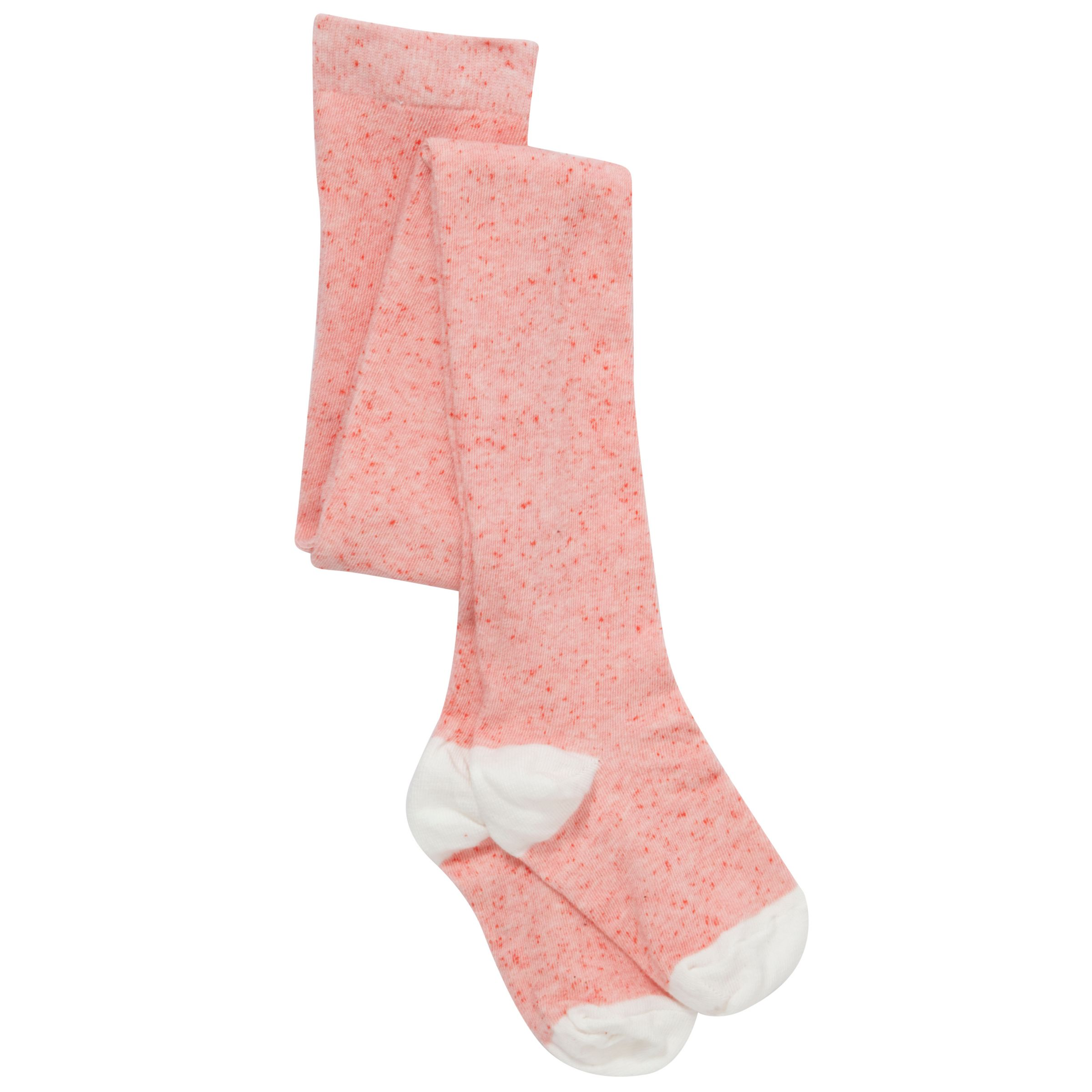 John Lewis Girl Textured Tights, Pink/White