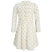 Buy Somerset by Alice Temperley Girls' Georgette Bird Print Dress, Oyster Online at johnlewis.com