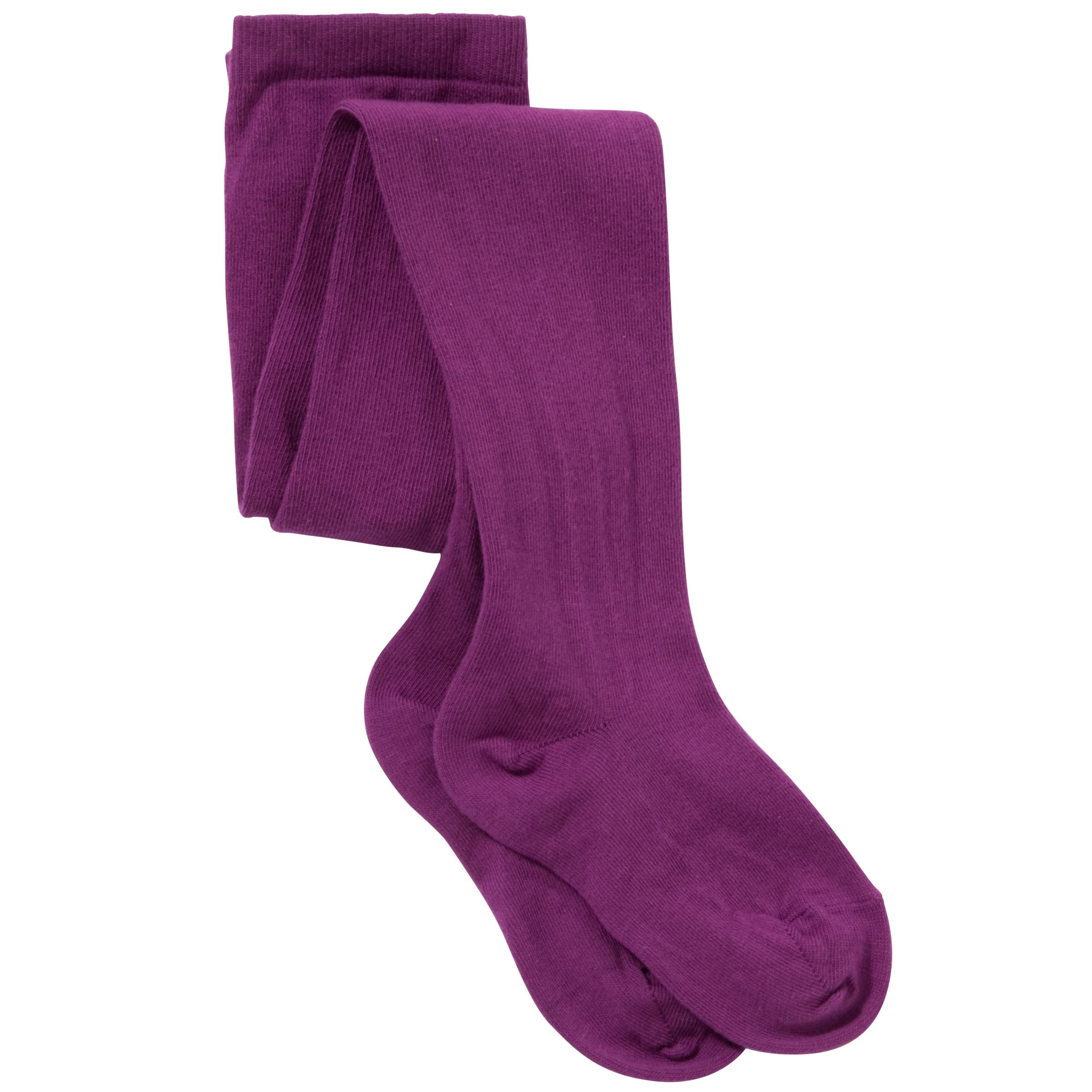John Lewis Girl Tights, Purple