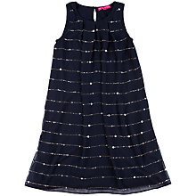Buy Derhy Kids Aure Glitter Dress, Navy Online at johnlewis.com