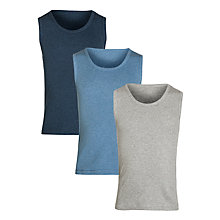 Buy John Lewis Boy Vests, Pack of 3, Multi Online at johnlewis.com
