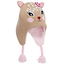 Buy John Lewis Girl Deer Trapper Hat, Beige Online at johnlewis.com