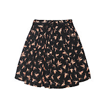 Buy Somerset by Alice Temperley Girls' Pine Cone Print Skirt, Black Online at johnlewis.com