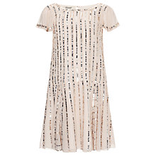 Buy Somerset by Alice Temperley Girls' Drop Waist Sequin Dress, Nude Online at johnlewis.com