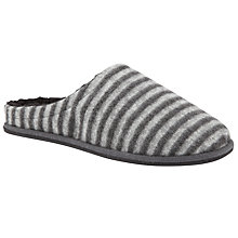 Buy John Lewis Stripe Mule Slippers, Grey Online at johnlewis.com