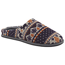 Buy John Lewis Fair Isle Christmas Slippers Online at johnlewis.com
