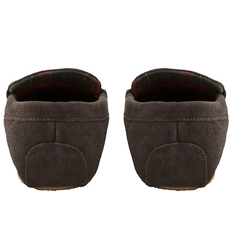 Buy John Lewis Check Lining Suede Moccasin Slippers Online at johnlewis.com