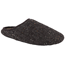 Buy John Lewis Nep Knit Mule Slippers, Black Online at johnlewis.com