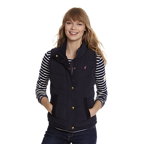 Buy Joules Higham Padded Gilet, Navy Online at johnlewis.com