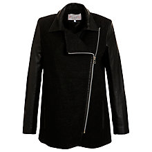 Buy Paul & Joe Sister Leather Sleeve Coat, Black Online at johnlewis.com