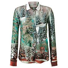 Buy Paul & Joe Sister Printed Landscape Shirt, Turquoise/ Red Online at johnlewis.com