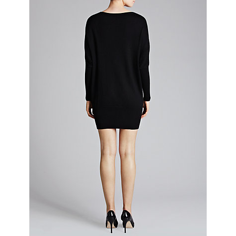 Buy Derhy Silk-Mix Embroidered Knit Dress, Noir Online at johnlewis.com