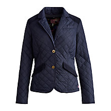 Buy Joules Hampton Quilted Jacket, Navy Online at johnlewis.com