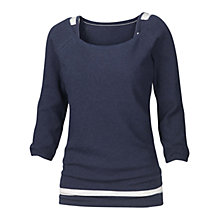 Buy Fat Face Joanne Stripe 2 in 1 Top, Navy Online at johnlewis.com