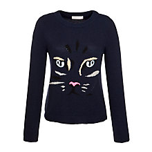 Buy Paul & Joe Sister Cat Jumper, Navy Online at johnlewis.com