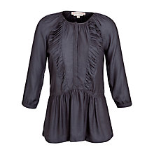 Buy Paul & Joe Sister Pleated Front Blouse, Navy Online at johnlewis.com